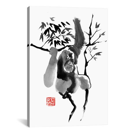 """Orangutan In Tree (18""""W x 26""""H x 0.75""""D)"""