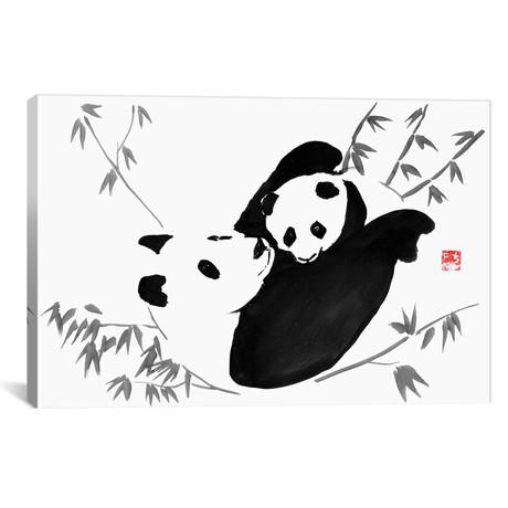 """Panda Family (26""""W x 18""""H x 0.75""""D)"""