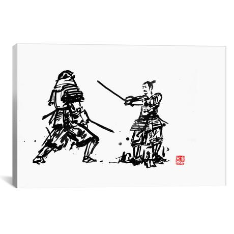 "Samurais Fight (26""W x 18""H x 0.75""D)"