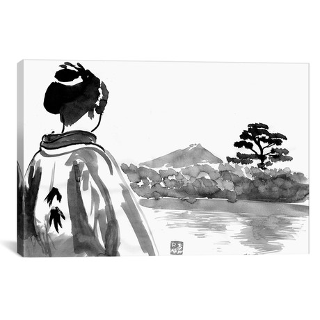 "The Geisha Is Watching (26""W x 18""H x 0.75""D)"