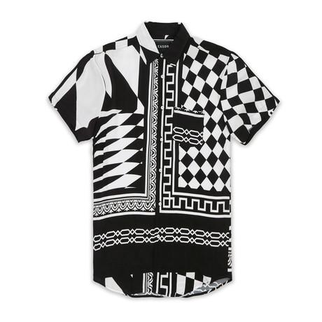 Checkmate Woven Shirt // Black + White (S)
