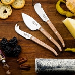 INNOVATION Collection // Cheese Knife Set (Oak)