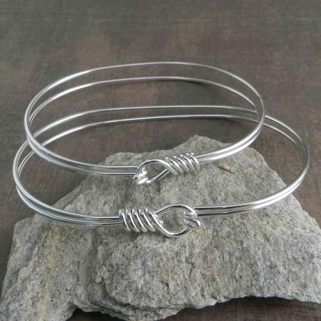 "Double Wrap Bracelet // Silver (7"" // Small)"