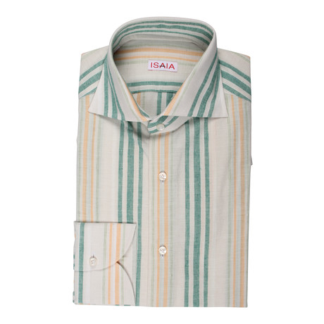 Isaia // Benny Striped Shirt // Multicolor (US: 15R)