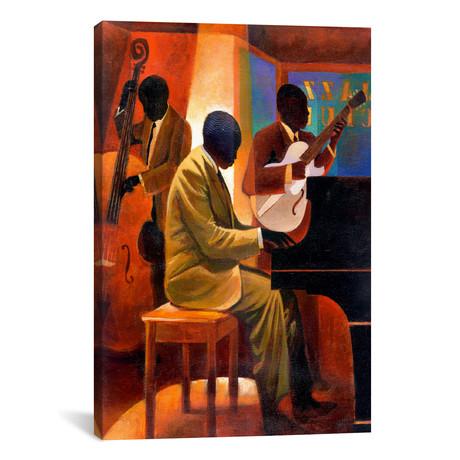 """Piano Man // Keith Mallett (18""""W x 26""""H x 0.75""""D)"""