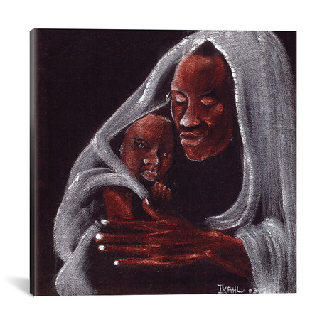 """Father And Son // Ikahl Beckford (18""""W x 18""""H x 0.75""""D)"""