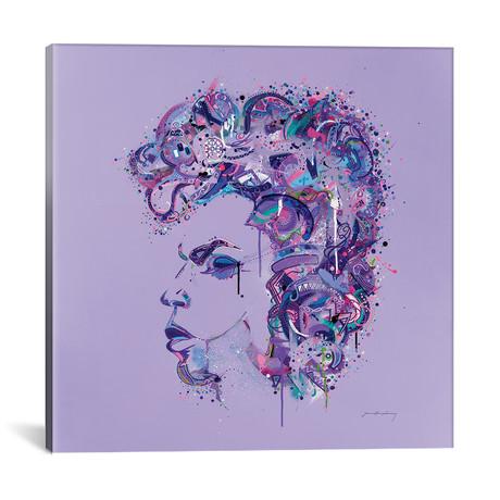 "Prince On Purple // Jason Humphrey (18""W x 18""H x 0.75""D)"