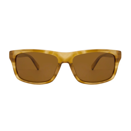 Gant // Rectangle Polarized Sunglasses // Light Tortoise + Brown Polarized