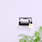 Balcony Key Shelf // Hers (Rectangular)