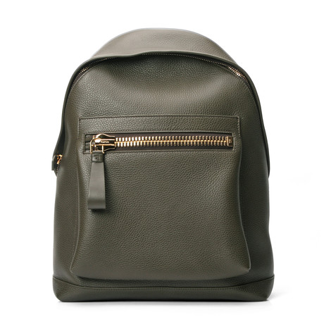 Leather Backpack // Green
