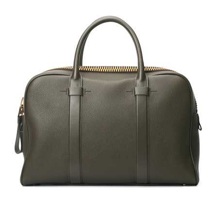 Wide Briefcase // Green