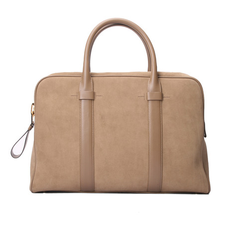 Wide Briefcase // Beige