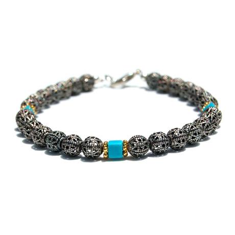 Metal Bracelet // Turquoise
