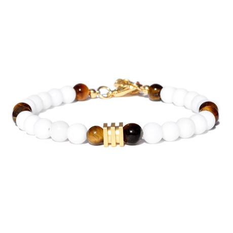 Cube Bracelet // Gold