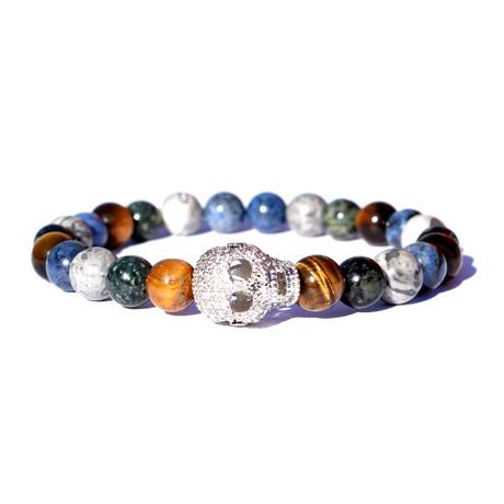 """Skull Bracelet // Multicolor (7"""")"""