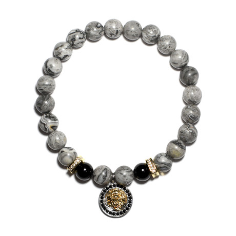 Golden Lion Bracelet // Grey + Gold