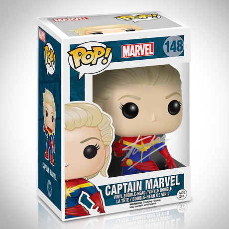 Captain Marvel // Stan Lee Signed // Funko Pop