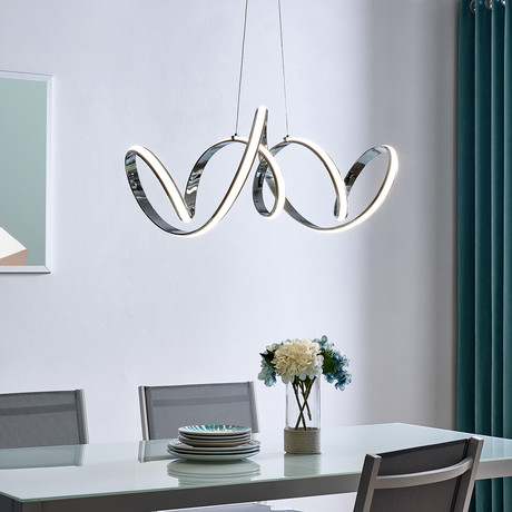 Seville // LED Chandelier // Chrome