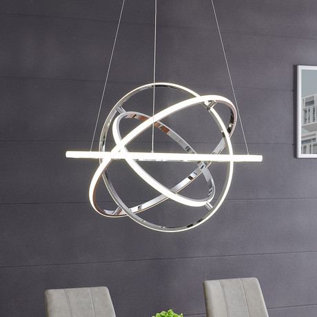 Oxford // LED Chandelier // Chrome