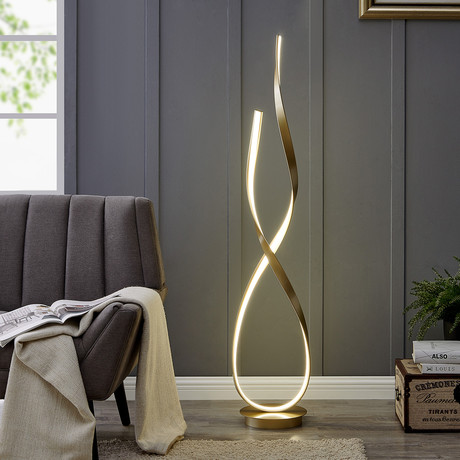 Vienna // LED Floor Lamp // Sandy Gold