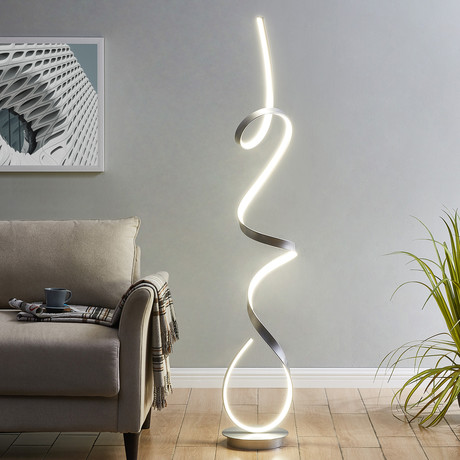 Amsterdam // LED Floor Lamp (Chrome)