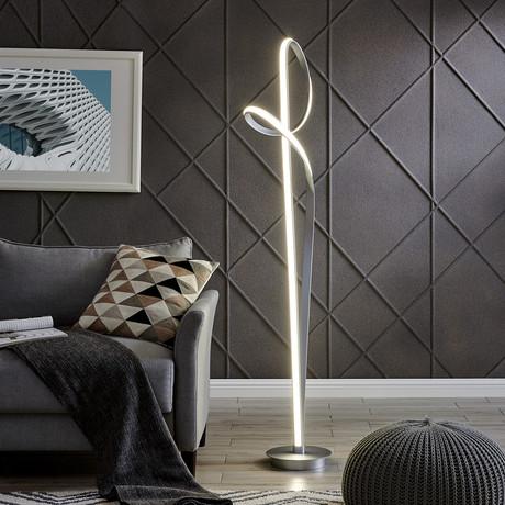 Silver LED Budapest // Floor Lamp