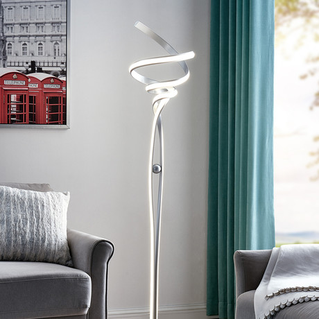 Hamburg // LED Floor Lamp // Silver