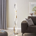 Chrome + Gold Prague // Floor lamp