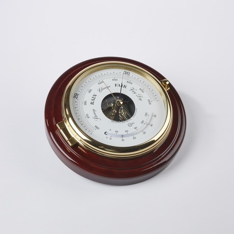 Captain Brass Barometer + Thermometer