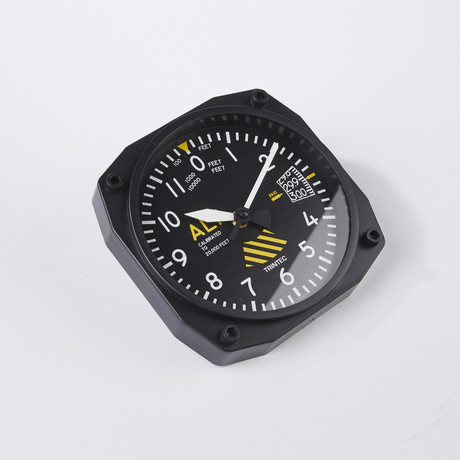 "6"" 30th Anniversary Altimeter Instrument Style Clock"
