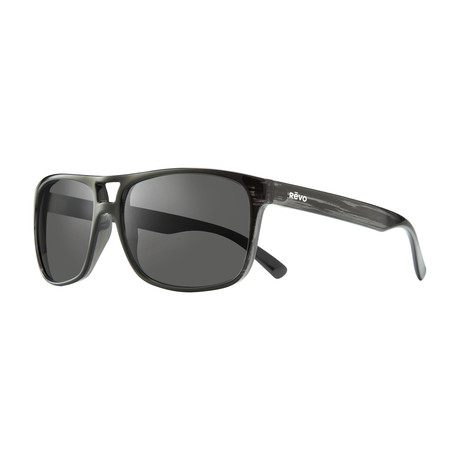 Holsby Modified Square Sunglasses // Black Woodgrain + Graphite