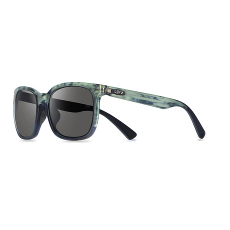 Unisex Slater Modified Square Polarized Sunglasses // Matte Black Ice + Graphite