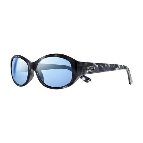 Unisex Allana Wraparound Polarized Sunglasses // Ocean + Blue Water