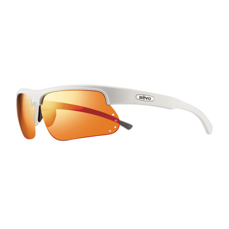 Cusp S Polarized Wraparound // White + Solar Orange