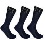 Basic Crew Socks // Blue // Set of 3 (L)