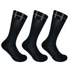 Basic Crew Socks // Black // Set of 3 (M)