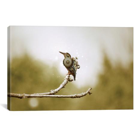 """Mechanical Hummingbird // Shaun Ryken (26""""W x 18""""H x 0.75""""D)"""