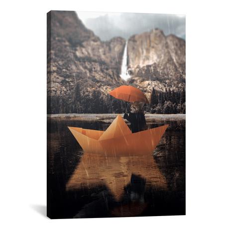 "Paper Boat Panda // Shaun Ryken (18""W x 26""H x 0.75""D)"