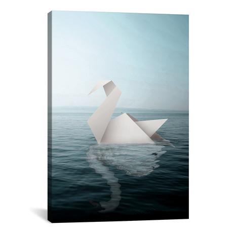 "Paper Swan // Shaun Ryken (18""W x 26""H x 0.75""D)"