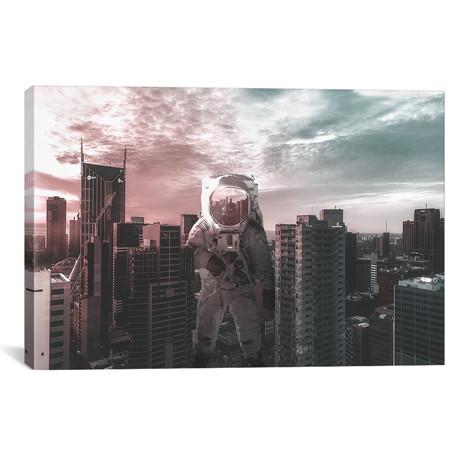 """Space Between Two Tones // Shaun Ryken (26""""W x 18""""H x 0.75""""D)"""