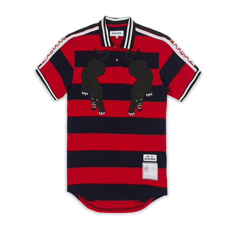Striped Panther Polo // Red (S)