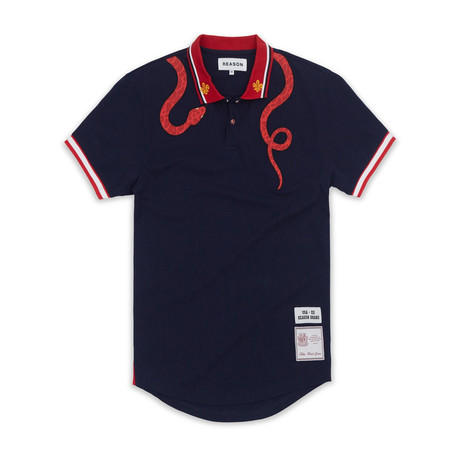 Slither Polo // Navy (S)