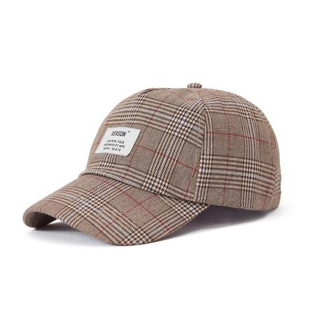 Check Cap // Beige
