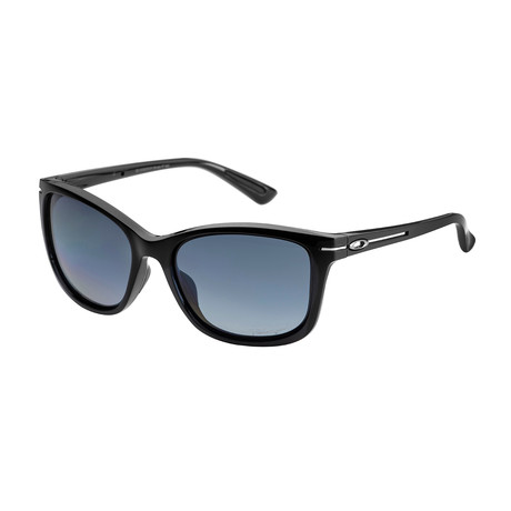 Men's Drop In Polarized Sunglasses // Gray Gradient + Black