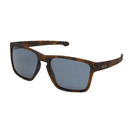 Men's Silver XL Sunglasses // Matte Brown + Tortoise Gray