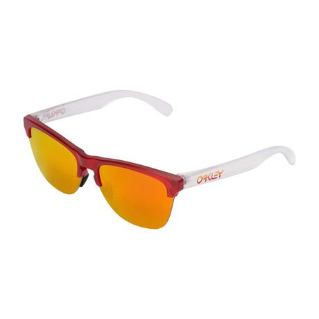 Men's Frogskins Light Grips Sunglasses // Translucent Ruby
