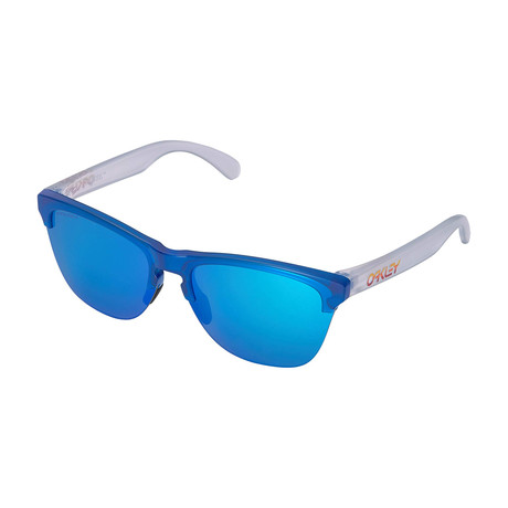 Men's Frogskins Light Grips Sunglasses // Translucent Sapphire