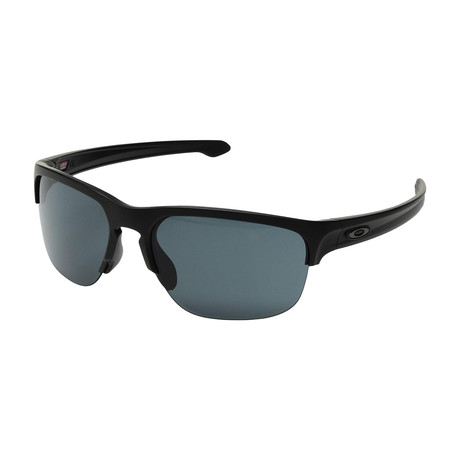 Men's Silver Edge Sunglasses // Matte Black + Gray