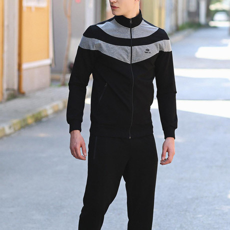 Rodrigo Track Suit  // Black + Gray (S)