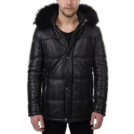 Aaron Leather Jacket // Black (Euro: 48)
